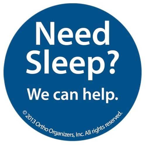 orthodontic sleep apnea awareness buttons